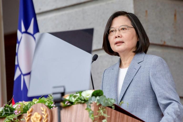 A presidente de Taiwan, Tsai Ing-wen, em 20 de maio de 2020, na cerimônia de posse de seu segundo mandato, em Taipei
