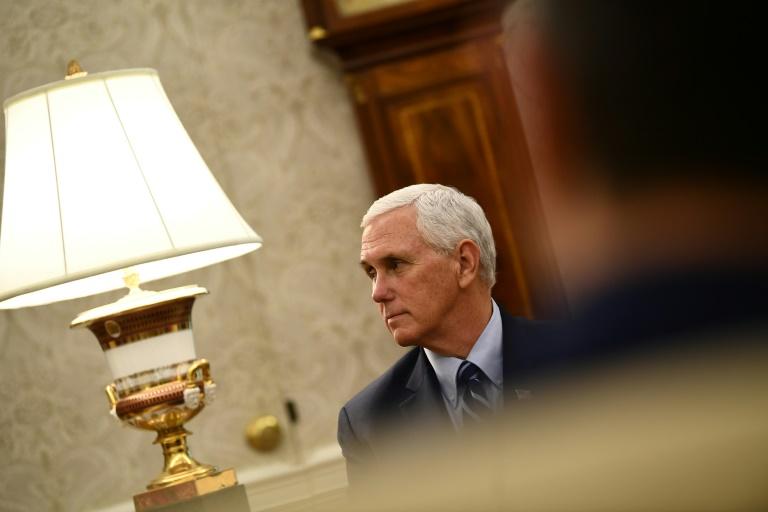 O vice-presidente dos Estados Unidos, Mike Pence, na Casa Branca em 7 de maio de 2020
