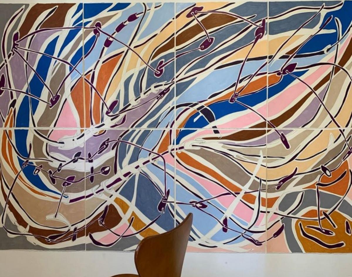 Obra de Marcia de Moraes no Museu do Isolamento Brasileiro