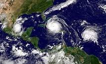 A temporada no Atlântico vai de 1º de junho a 30 de novembro (NOAA)