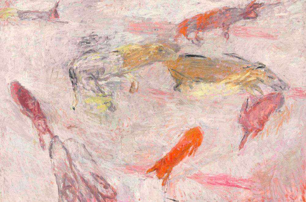 'Pink paths', obra de grandes dimensões da artista