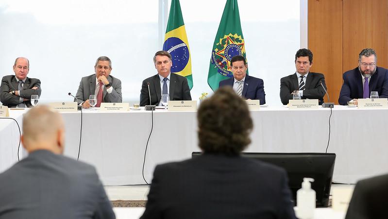 Reunião com vice-Presidente da República, ministros e presidentes de Bancos (22 de abril de 2020)