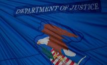 (Arquivo) Bandeira do Departamento de Justiça americano  (AFP/Arquivos)