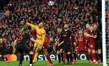 O jogo da Liga dos Campeões do Liverpool contra o Atlético de Madrid em 11 de março foi disputado diante de 52.000 torcedores (AFP)