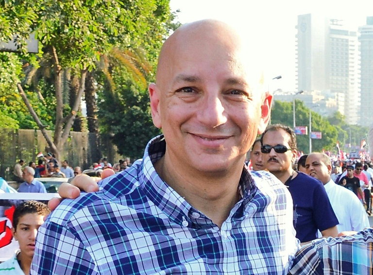 O historiador egípcio Khaled Fahmy, em uma manifestação no Cairo, em 30 de junho de 2013