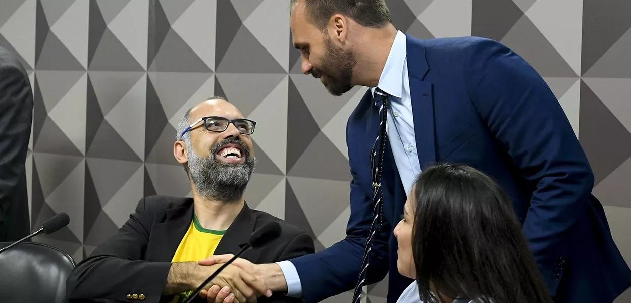 Allan dos Santos do canal 'Terça Livre' e Eduardo Bolsonaro