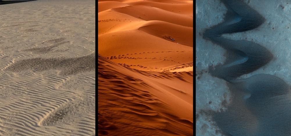 Modelo feito a partir de mais de 120 ensaios com dunas de até 10 centímetros também vale para as dunas quilométricas da superfície marciana, que levam mais de mil anos para interagir