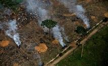 Vista aérea mostra área desmatada da Amazônia próxima a Porto Velho, em Rondônia, em setembro de 2019 (Bruno Kelly/Reuters)