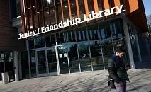 (Março) Biblioteca pública fechada na capital americana (AFP)