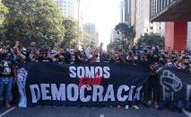 Foto do protesto do dia 31 de maio liderado pela Gaviões da Fiel em São Paulo (Reprodução/Twitter)