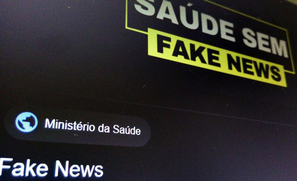 O Ministério da Saúde lançou campanha para combater fake news relacionadas à Covid-19