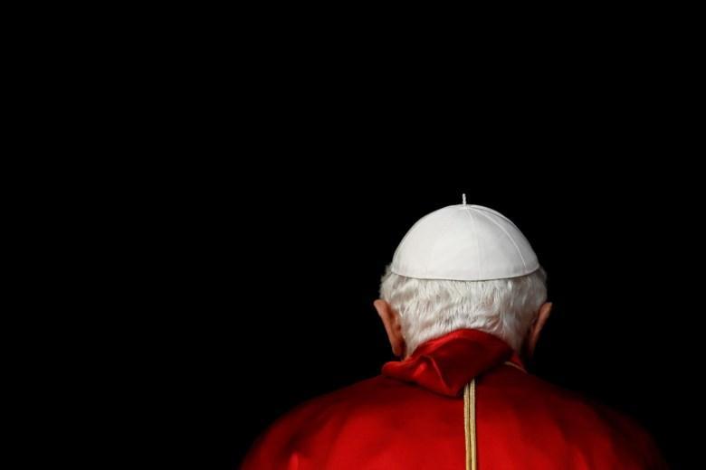 Papa Bento XVI em viagem à Inglaterra, em 2010