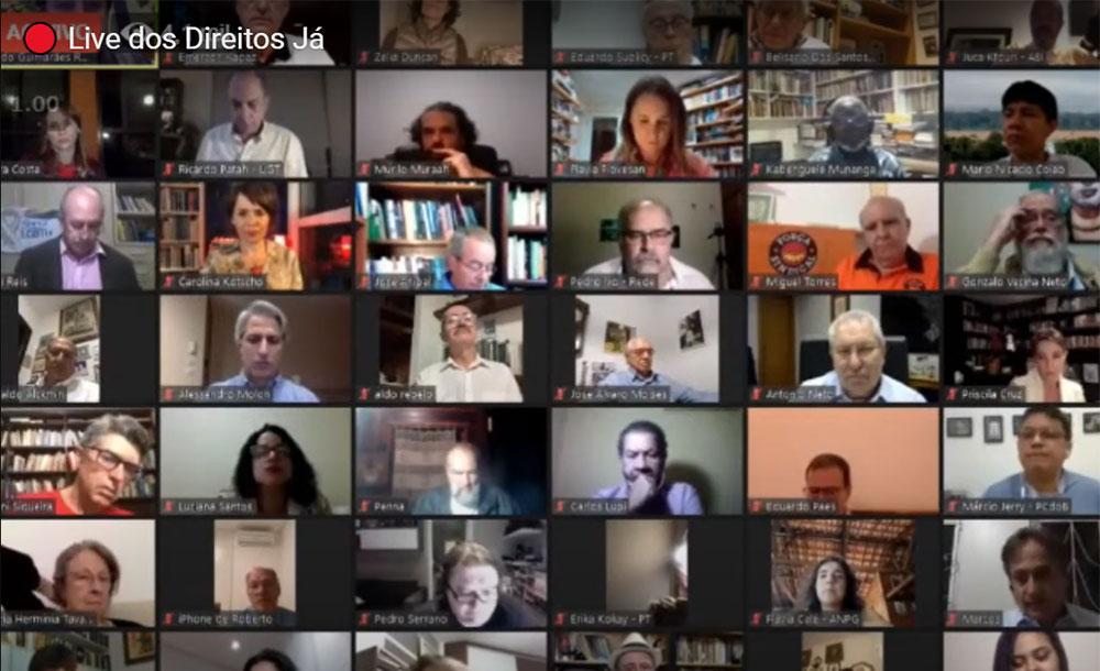 Embora o grupo Direitos Já não tenha posição oficial sobre o pedido de impeachment de Bolsonaro os oradores adotaram tons diferentes