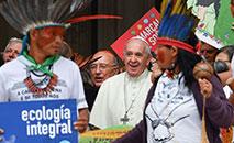 Papa Francisco durante Sínodo da Amazônia: região ganha órgão perene para cuidado da evangelização (Andreas Solaro/AFP)
