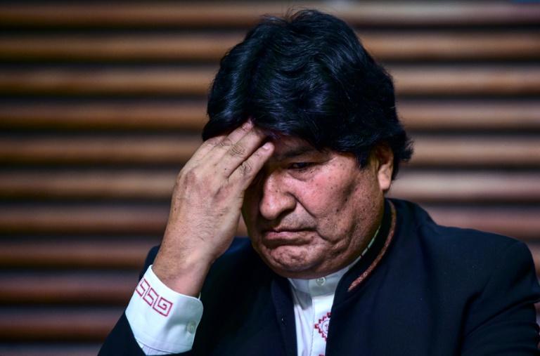 O ex-presidente da Bolívia Evo Morales, em entrevista coletiva, em Buenos Aires, em fevereiro de 2020