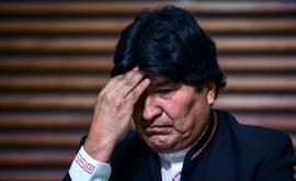 O ex-presidente da Bolívia Evo Morales, em entrevista coletiva, em Buenos Aires, em fevereiro de 2020 (Arquivos/AFP)
