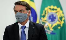 O presidente Jair Bolsonaro em cerimônia realizada em Brasília, no dia 25 de junho de 2020) (Marcos Corrêa/PR)
