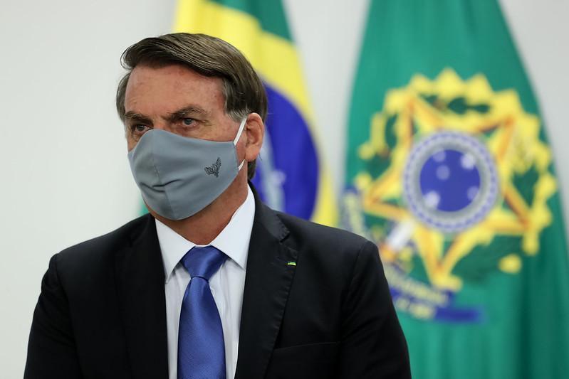 O presidente Jair Bolsonaro em cerimônia realizada em Brasília, no dia 25 de junho de 2020)