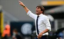 O técnico da Inter de Milão, Antonio Conte, durante partida contra o Bologna, 5 de julho de 2020 (AFP)