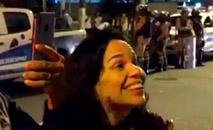 Sem máscara, mulher intimidou o fiscal e acabou sem emprego (Reprodução Globo)