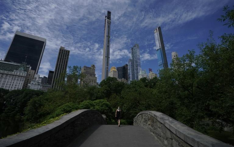 O Central Park, onde uma mulher branca, Amy Cooper, acusou falsamente à polícia que um homem a ameaçava, em 26 de junho de 2020