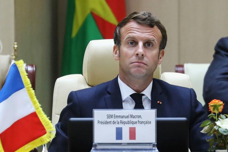 O presidente Emmanuel Macron em 30 de junho de 2020