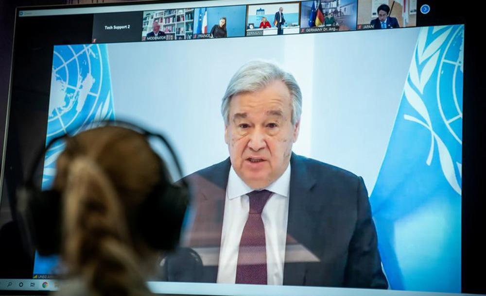 António Guterres enviou mensagem para reunião representantes da AIE