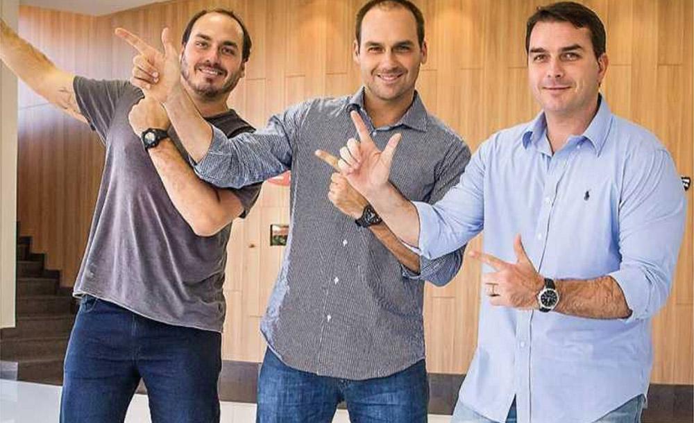Carlos, Eduardo e Flávio apostam em desmontar discurso de adversários
