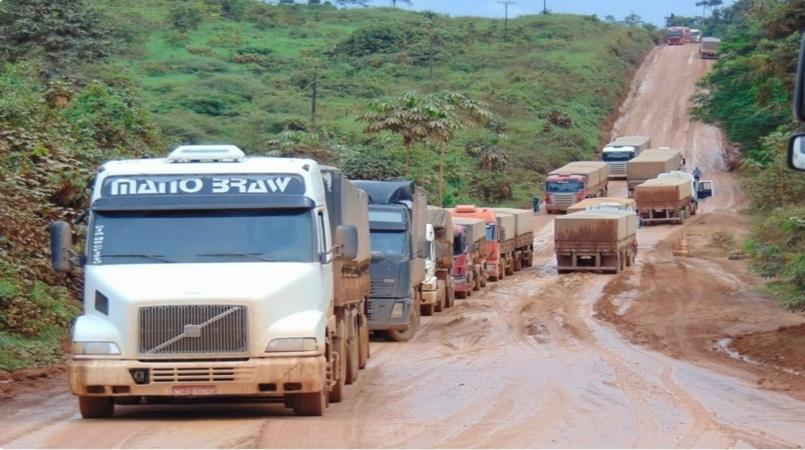 BR-163 atravessa reservas para levar soja para exportação pelos portos do Norte do país