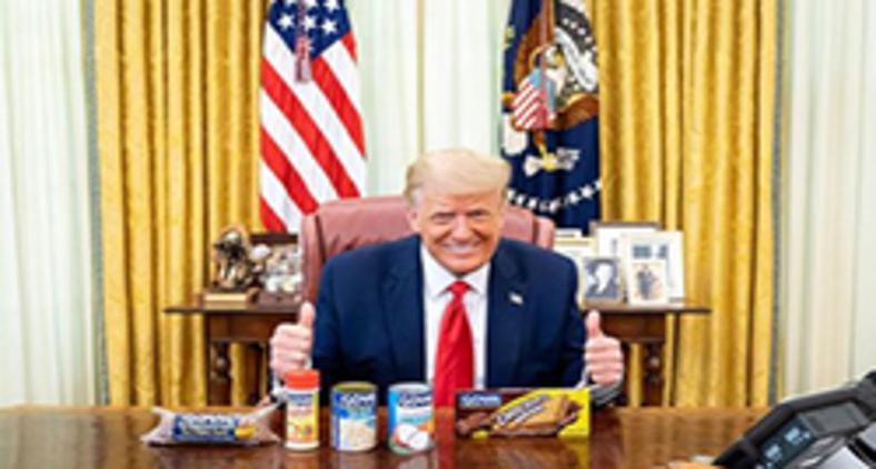 Foto postada no Instagram de Trump mostra presidentes com produtos da marca Goya (Instagram/ @realdonaldtrump)