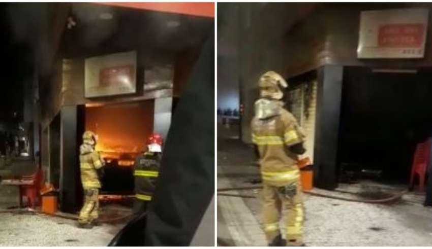 Incêndio atingiu a lanchonete Rei do Pastel, na Savassi