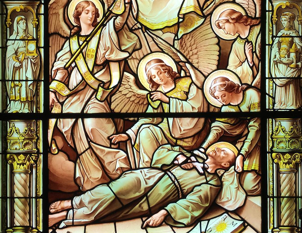 Vitral do Santuário de Loyola, na Espanha