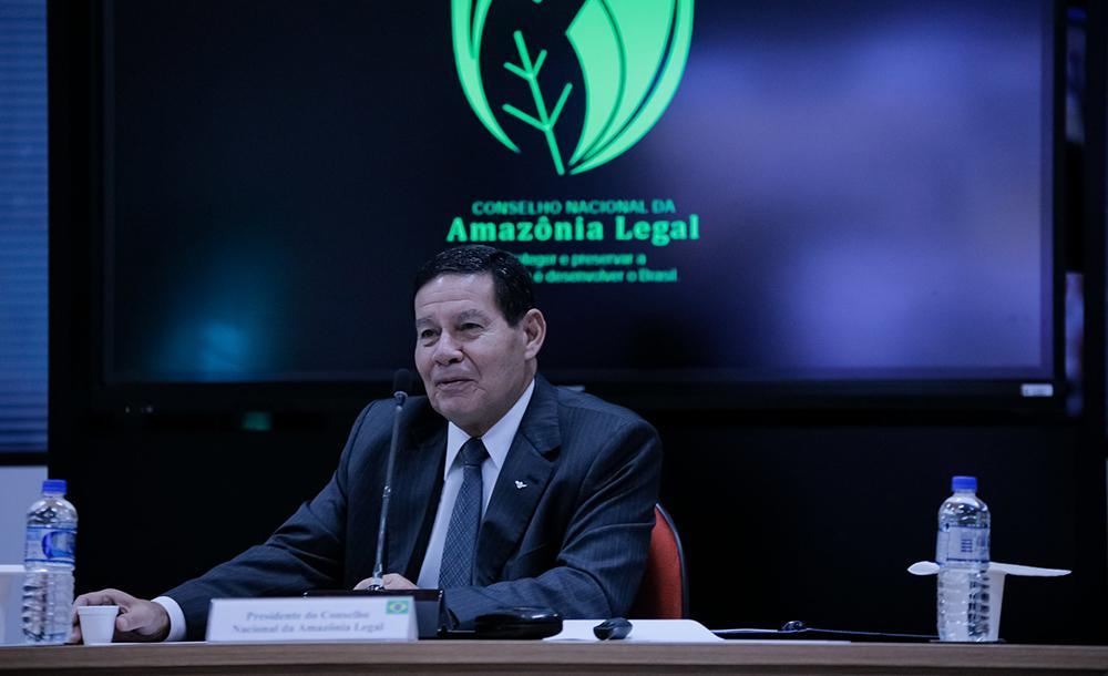 Mourão destacou na reunião que o governo tem quatro objetivos fundamentais: integridade do território, do patrimônio, democracia e paz social