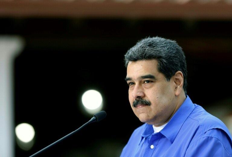 Nicolás Maduro, durante discurso no palácio presidencial de Miraflores, em Caracas
