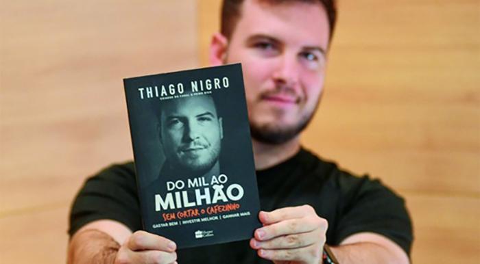 O ranking mostra o brasileiro Thiago Nigro no topo, com 'Do mil ao milhão sem cortar o cafezinho'