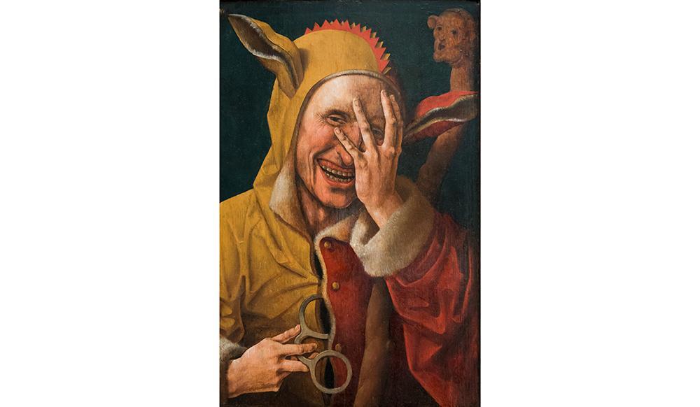 'O bobo rindo', quadro de autor holandês, possivelmente Jacob Cornelisz. Van Oostsanen