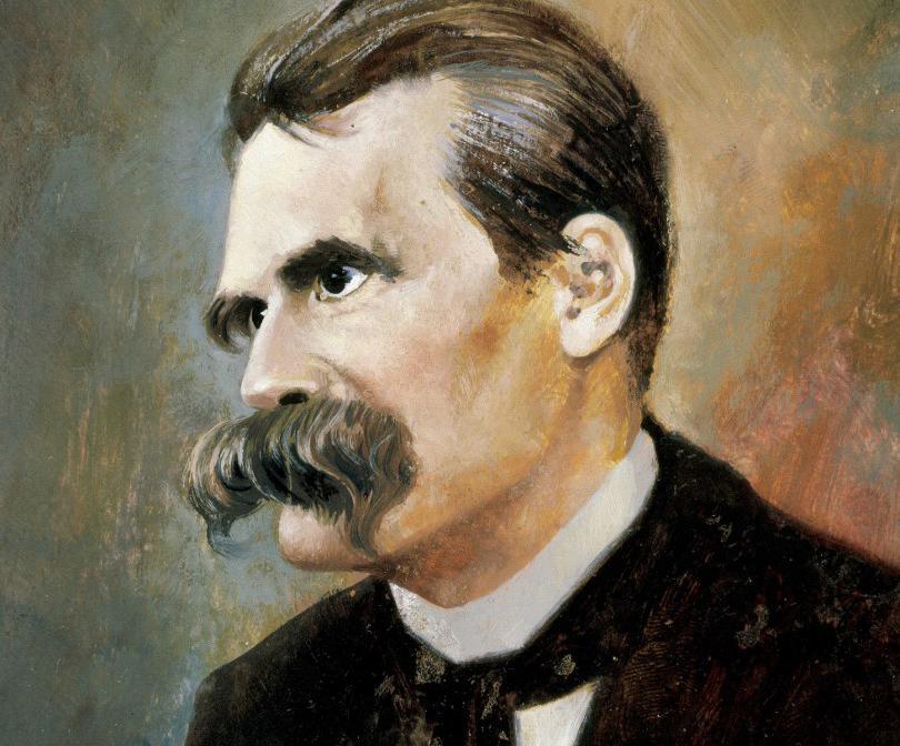 Retrato do filósofo alemão Friedrich Nietzsche (1844-1900) pintado por Francisco Fonollosa