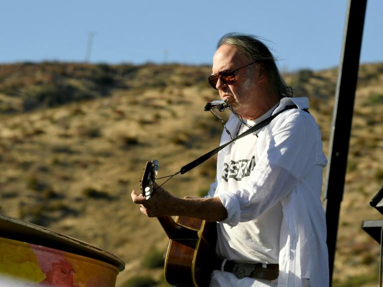 O músico Neil Young