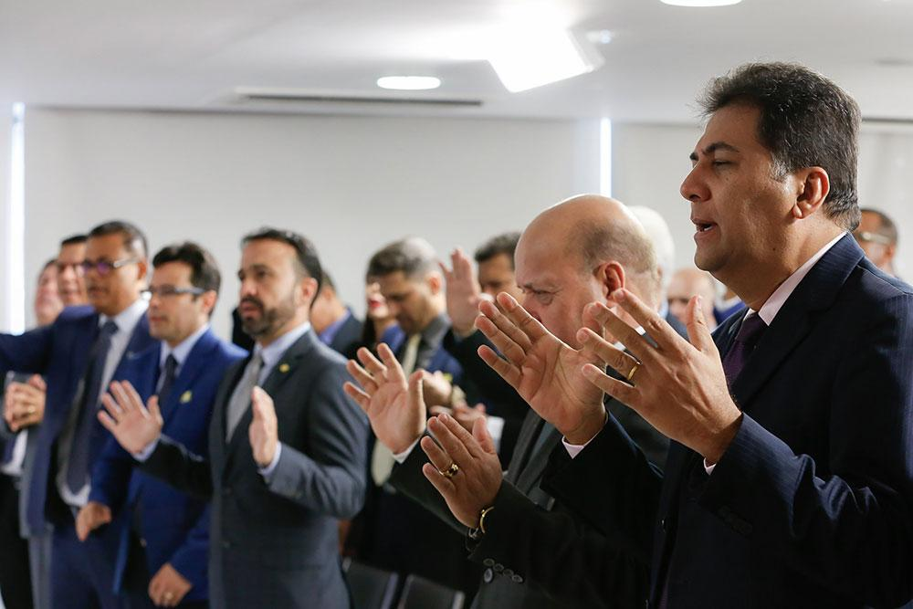 Encontro de pastores da Assembleia de Deus com Bolsonaro