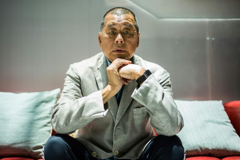 O emprsário Jimmy Lai dirante entrevista à AFP em 16 de junho de 2020