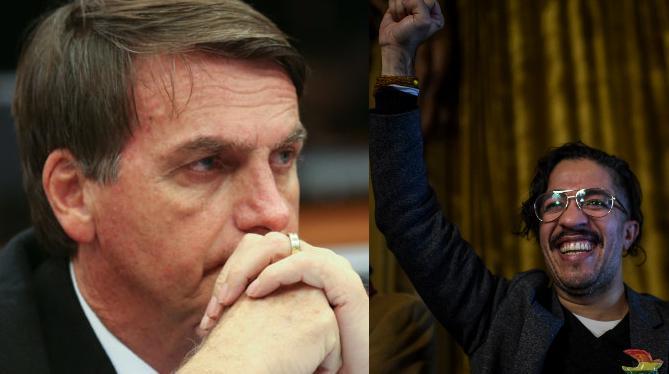 Jair Bolsonaro (sem partido) e  Jean Wyllys (PSOL-RJ), ambos deputados à época do processo, em 2017