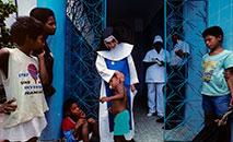 Irmã Dulce no Hospital Santo Antônio, em Salvador (Gerard Sioen/ AFP)