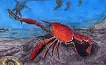 Desenho de como seria o Lagostim, que viveu há cerca de 75 milhões de anos (Museu Nacional/UFRJ)