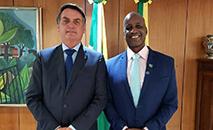 Jair Bolsonaro e Sérgio Camargo, da Fundação Palmares (Reprodução de rede social)