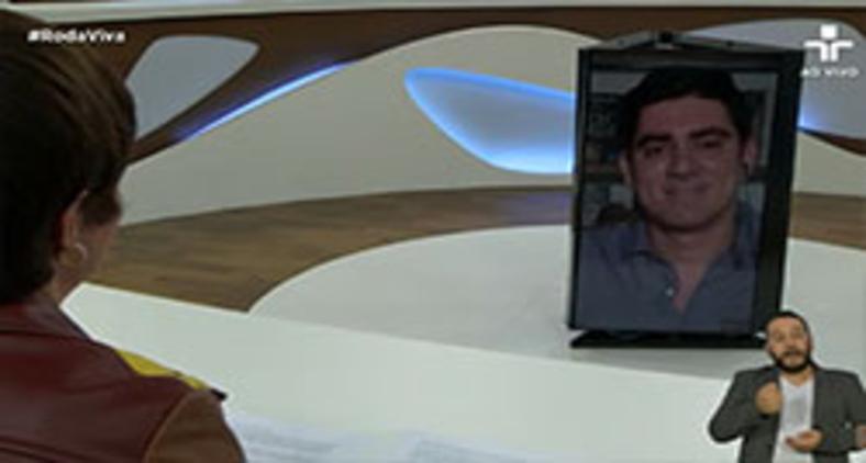 Marcelo Adnet no 'Roda viva' (Reprodução/ TV Cultura)