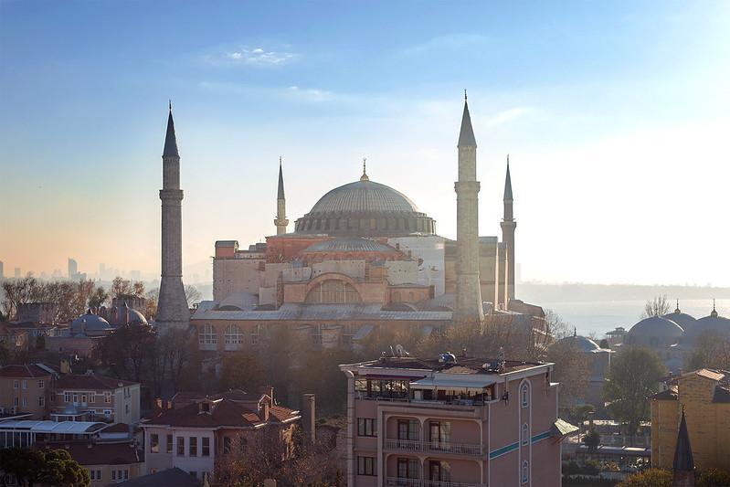 Hagia Sophia ao nascer do sol