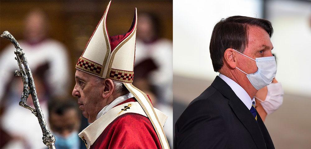 Papa Francisco e Bolsonaro são modelo antagônicos de liderança