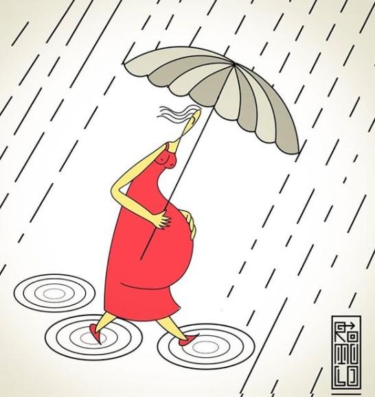 Mulheres relatam o período de isolamento, parto e gestação