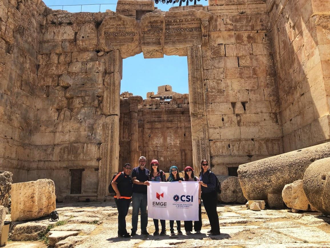Delegação da EMGE no intercâmbio para o Líbano realizado em 2019