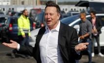 O presidente da Tesla, Elon Musk, visita fábrica na Alemanha (Odd ANDERSEN/AFP)